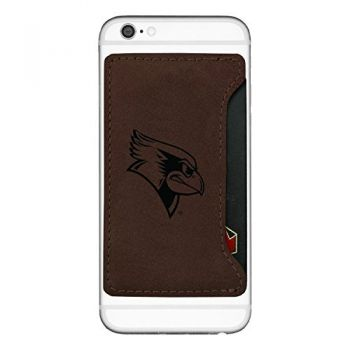 Illinois State University-Cell Phone Card Holder-Brown