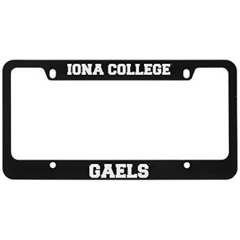 Iona College-Metal License Plate Frame-Black
