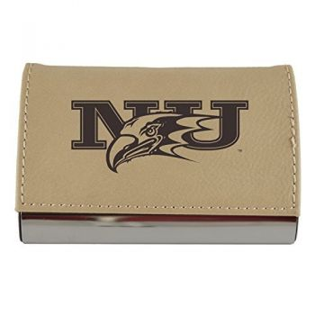 Velour Business Cardholder-Niagara University-Tan