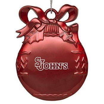 Saint John's University - Pewter Christmas Tree Ornament - Red