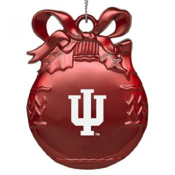 Indiana University - Pewter Christmas Tree Ornament - Red