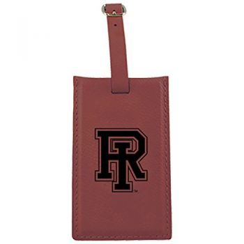 The University of Rhode Island -Leatherette Luggage Tag-Burgundy