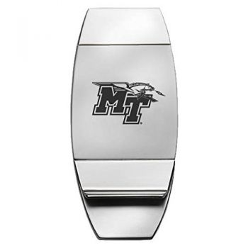 Middle Tennessee State University - Two-Toned Money Clip - Silver