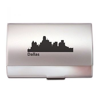 Business Card Holder Case - Dallas City Skyline