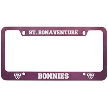 St. Bonaventure Bonnies -Metal License Plate Frame-Pink