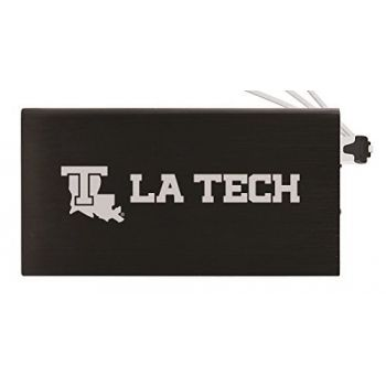 8000 mAh Portable Cell Phone Charger-Louisiana Tech University -Black