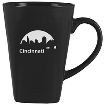 14 oz Square Ceramic Coffee Mug - Cincinnati City Skyline