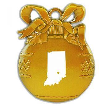 Pewter Christmas Bulb Ornament - I Heart Indiana - I Heart Indiana