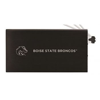 8000 mAh Portable Cell Phone Charger-Boise State University -Black