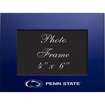 Pennsylvania State University - 4x6 Brushed Metal Picture Frame - Blue