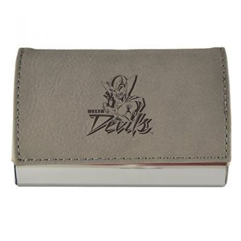 Velour Business Cardholder-Mississippi Valley State University-Grey
