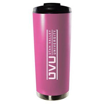 Utah Valley University-16oz. Stainless Steel Vacuum Insulated Travel Mug Tumbler-Pink