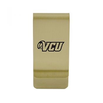 Villanova University|Money Clip with Contemporary Metals Finish|Solid Brass|High Tension Clip to Securely Hold Cash, Cards and ID's|Silver