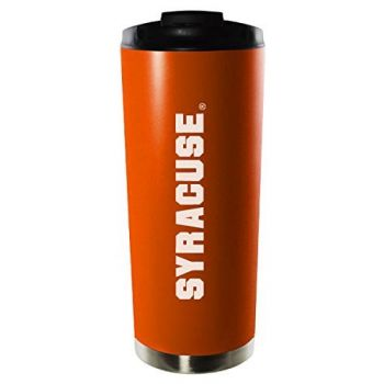 Syracuse University-16oz. Stainless Steel Vacuum Insulated Travel Mug Tumbler-Orange
