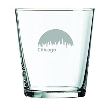 13 oz Cocktail Glass - Chicago City Skyline