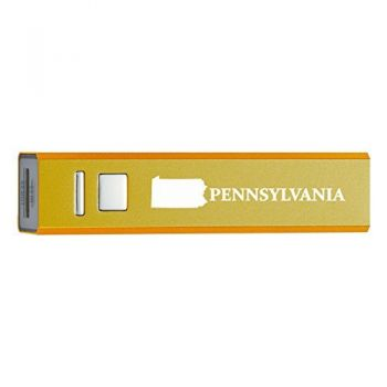 Pennsylvania-State Outline-Portable 2600 mAh Cell Phone Charger-