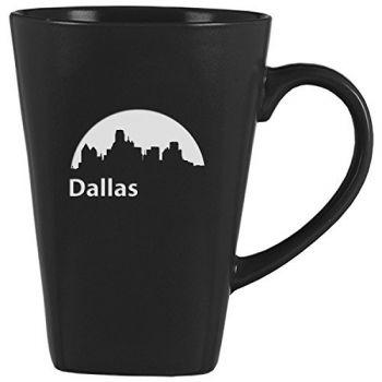 14 oz Square Ceramic Coffee Mug - Dallas City Skyline
