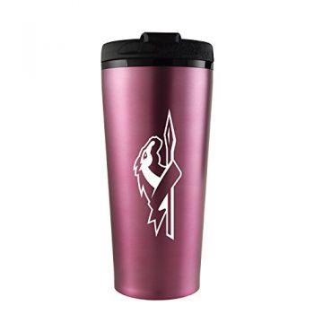 Longwood University-16 oz. Travel Mug Tumbler-Pink