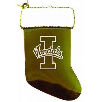 University of Idaho - Christmas Holiday Stocking Ornament - Gold