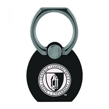 Central Connecticut University|Multi-Functional Phone Stand Tech Ring|Black