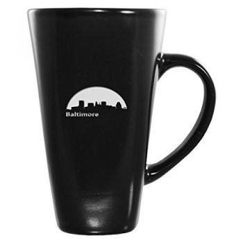 16 oz Square Ceramic Coffee Mug - Baltimore City Skyline