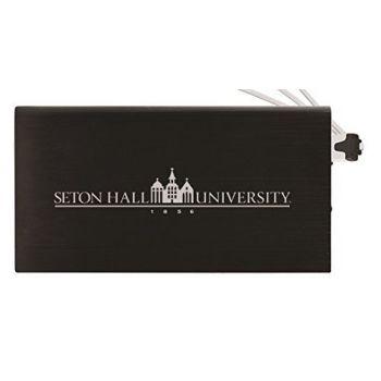 8000 mAh Portable Cell Phone Charger-Seton Hall University -Black