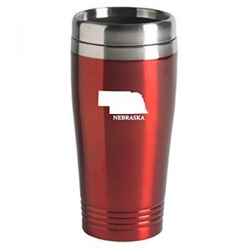 16 oz Stainless Steel Insulated Tumbler - Nebraska State Outline - Nebraska State Outline
