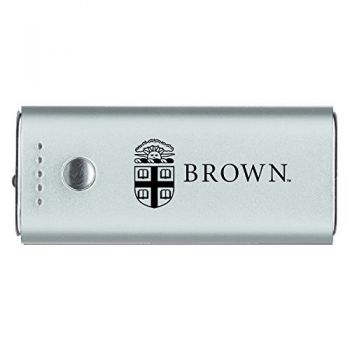 Brown University -Portable Cell Phone 5200 mAh Power Bank Charger -Silver