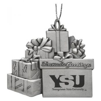 Youngstown State University - Pewter Gift Package Ornament