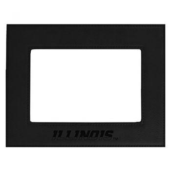 University of Illinois-Velour Picture Frame 4x6-Black