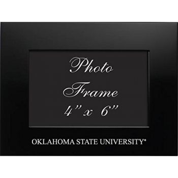 Oklahoma State University??Stillwater - 4x6 Brushed Metal Picture Frame - Black