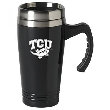 Texas Christian University-16 oz. Stainless Steel Mug-Black