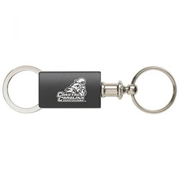 Coastal Carolina University - Anodized Aluminum Valet Key Tag - Black