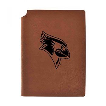 Illinois State University Velour Journal with Pen Holder|Carbon Etched|Officially Licensed Collegiate Journal|