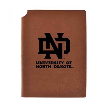 University of North Dakota Velour Journal with Pen Holder|Carbon Etched|Officially Licensed Collegiate Journal|