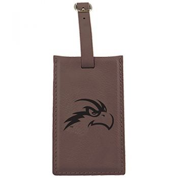 University of North Florida-Leatherette Luggage Tag-Brown