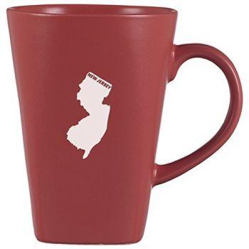 14 oz Square Ceramic Coffee Mug - New Jersey State Outline - New Jersey State Outline