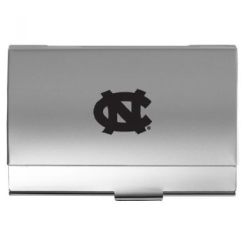 University of North Carolina at Chapel Hill - Two-Tone Business Card Holder - Silver