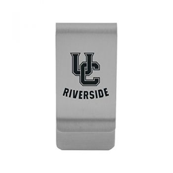 University of California, Riverside Money Clip with Contemporary Metals Finish Solid Brass High Tension Clip to Securely Hold Cash, Cards and ID's Gold