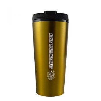 Jacksonville State University-16 oz. Travel Mug Tumbler-Gold