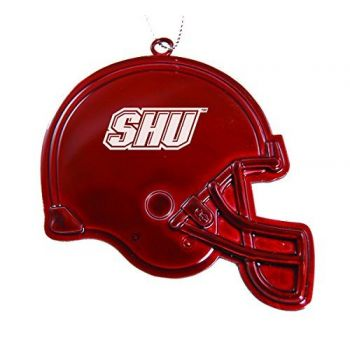 Sacred Heart University - Chirstmas Holiday Football Helmet Ornament - Red