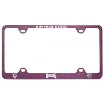 Buffalo State University - The State University of New York -Metal License Plate Frame-Pink