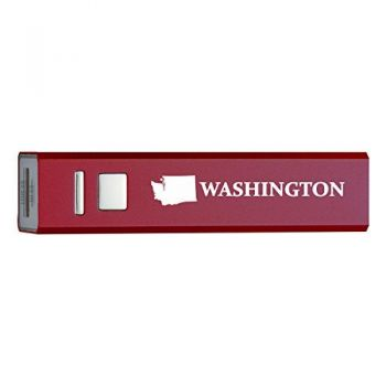 Washington-State Outline-Portable 2600 mAh Cell Phone Charger-