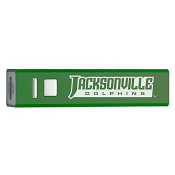 Jacksonville University - Portable Cell Phone 2600 mAh Power Bank Charger - Green