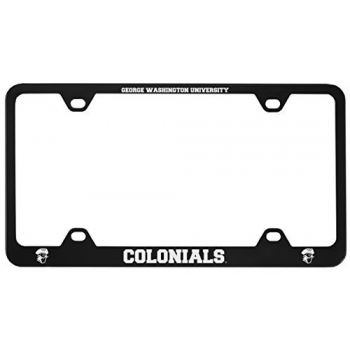 George Washington University -Metal License Plate Frame-Black