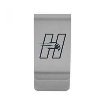 University of Hartford|Money Clip with Contemporary Metals Finish|Solid Brass|High Tension Clip to Securely Hold Cash, Cards and ID's|Gold