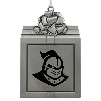 University of Central Florida -Pewter Christmas Holiday Present Ornament-Silver