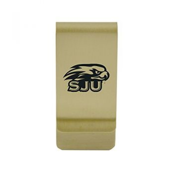 Southern Utah University|Money Clip with Contemporary Metals Finish|Solid Brass|High Tension Clip to Securely Hold Cash, Cards and ID's|Silver