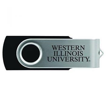 Western Illinois University -8GB 2.0 USB Flash Drive-Black