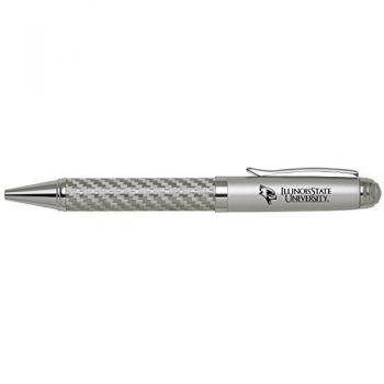 Illinois State University-Carbon Fiber Ballpoint Pen-Silver